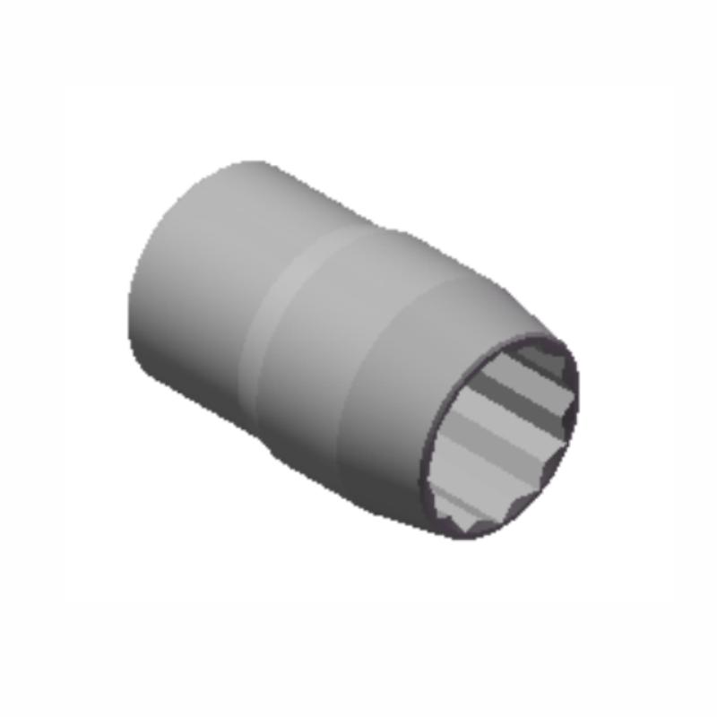 Chave Soquete Estriado de 30mm Com Encaixe 3/4 10027 CHIMONEK