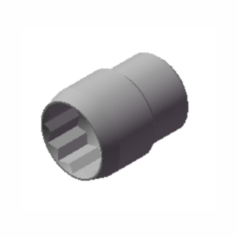 Chave Soquete Estriado de 36mm Com Encaixe  3/4 10037 CHIMONEK