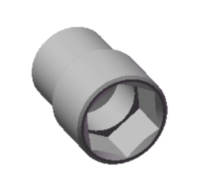 Chave Soquete Sextavado de 38mm Com Encaixe 3/4 13171 CHIMONEK
