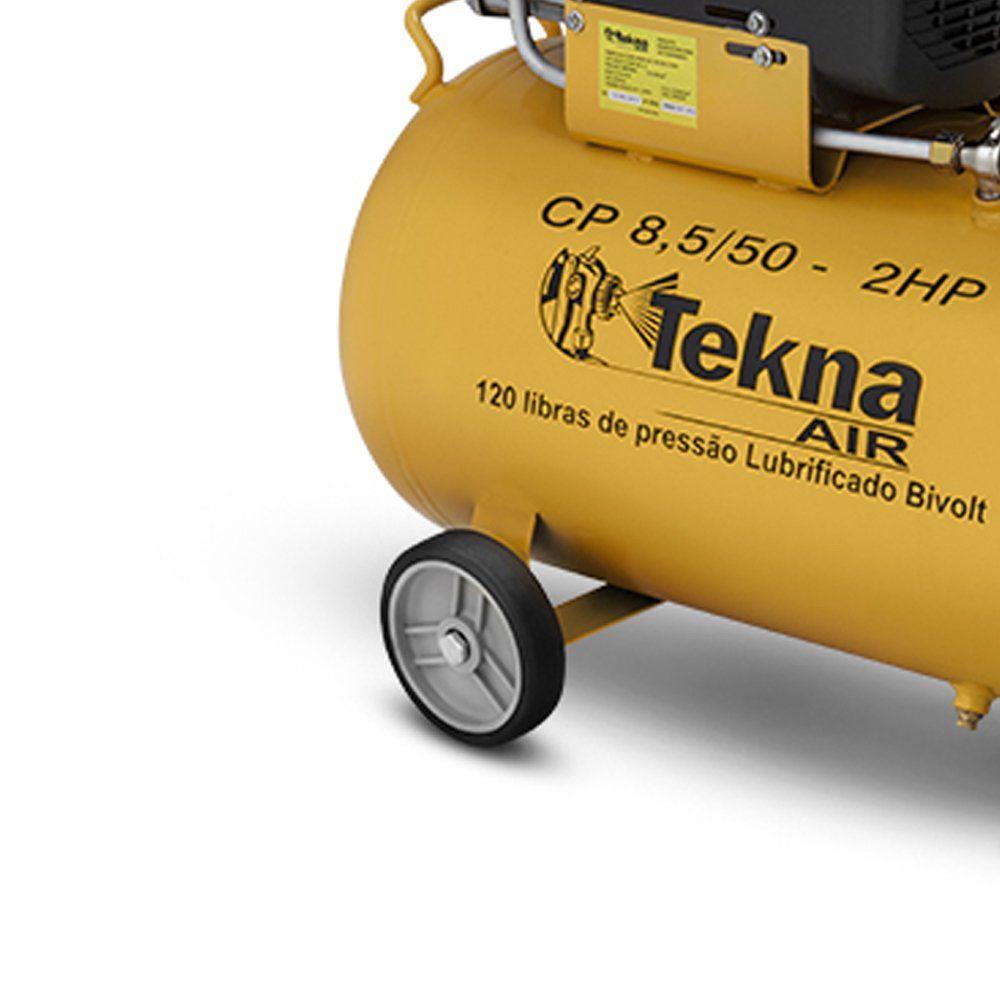 Compressor de Ar 2,5 HP 8,5 Pés 50 Litros CP8550 TEKNA
