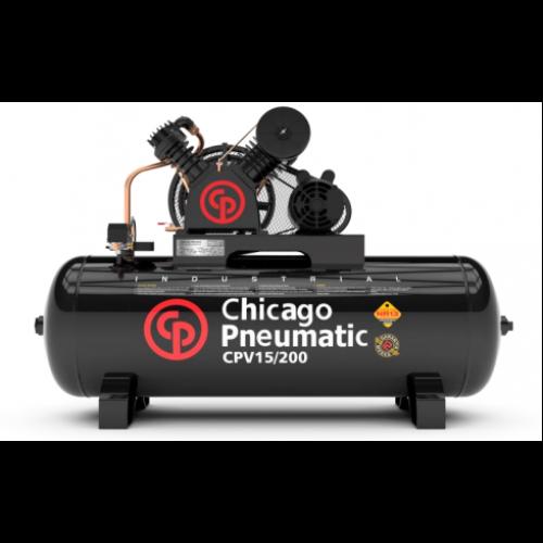 Compressor de ar 3HP 15 Pés 200 Litros 110/220V Monofásico alta pressão 175lbs Chicago pneumatic