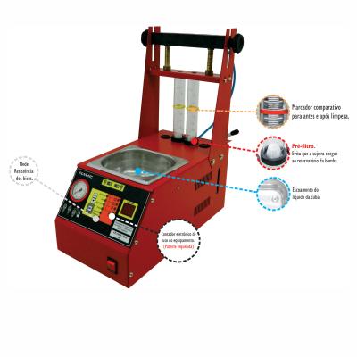 Equipamento Microprocessado Para Teste e limpeza Ultrassônica de Bicos Injetores com Cuba de 1 litro Embutida LB-14000/MOTO-2B PLANATC