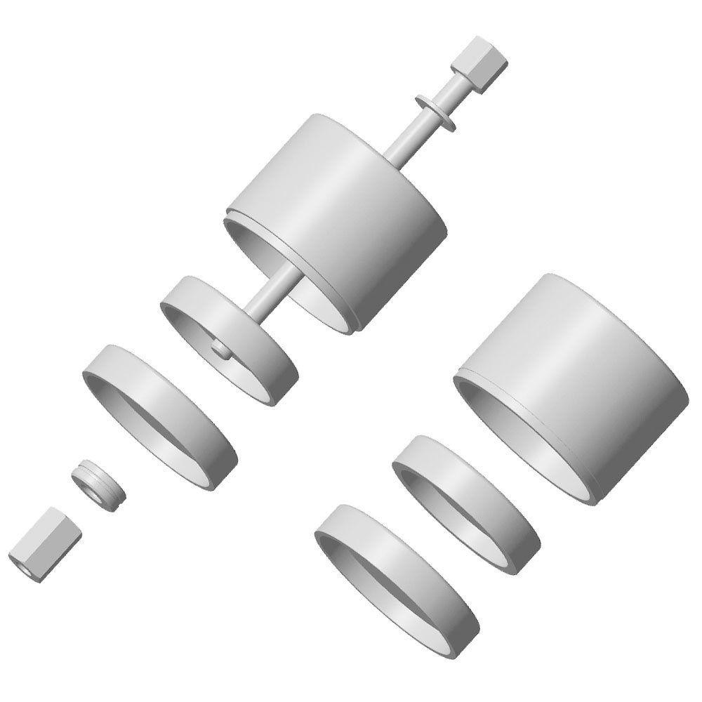 Ferramenta para Trocar Buchas Diâmetro 65 ou 70mm Coxim Inferior do Motor de Peugeot/Citroen - RAVEN-161013