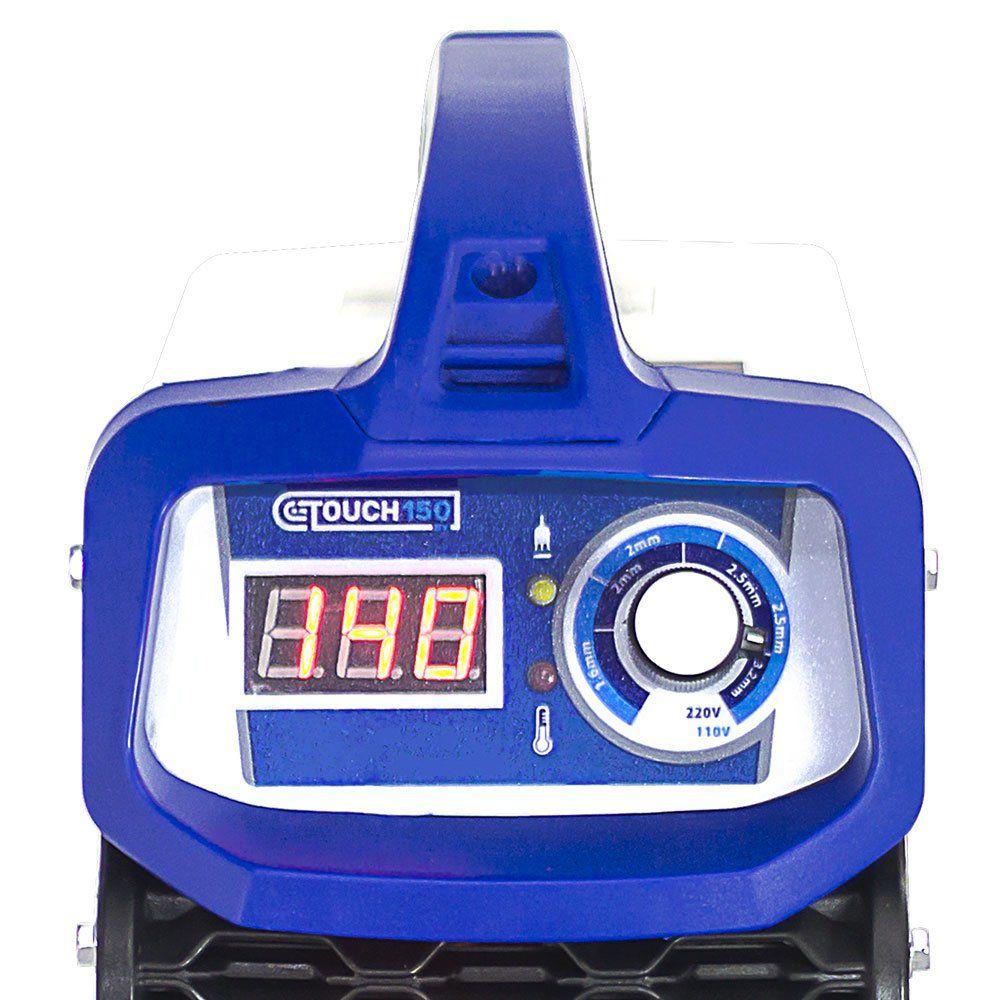 Máquina Inversora de Solda Touch 150BV Tig DC 140A Bivolt  1510022 BOXER