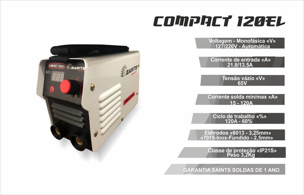 Inversora de Solda Bivolt Compact 120 EL - Saint Soldas