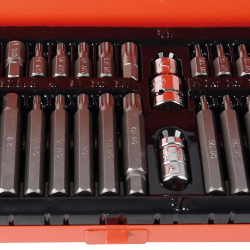 Jogo de Bits Allen / Torx e Multidentado com 40 peças + Maleta de Metal 904400 - VIP