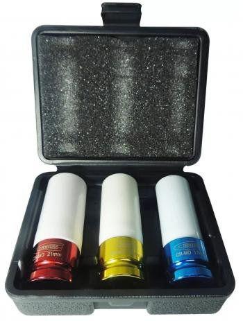 Jogo de Soquete de Impacto para Roda Liga Leve 17 a 21mm 1/2'' - GROSS - 13513