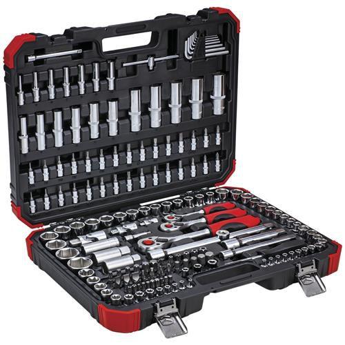 Jogo de soquetes 1/4″ + 3/8″ + 1/2″ sextavados, 172 peças , Gedore RED - R45603172