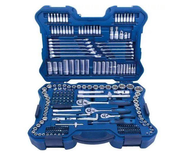 Jogo Soquetes 1/4, 3/8 e 1/2 Pol Com 214 Peças-  Riosul Tools  R010127