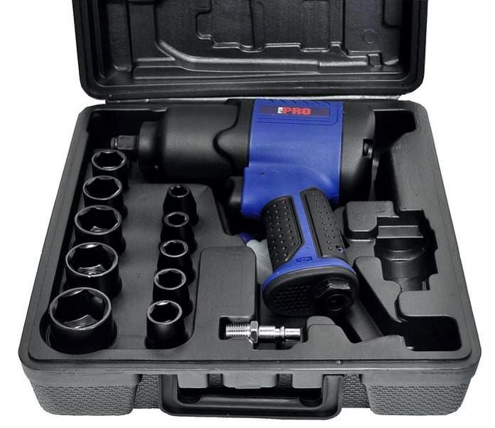 Kit de Chave de Impacto Pneumática 1/2  74kgfm,  PRO-160K  LDR c/ maleta e acessórios