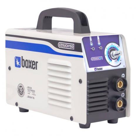 Kit Inversora de solda 140 amperes para eletrodo revestido e tig - TOUCH150 (110V/220V) - Boxer