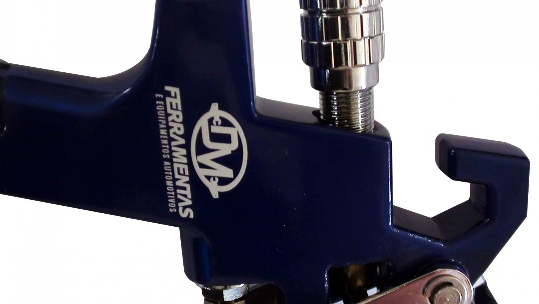 KIT Pistola de Pintura HVLP Profissional Automotiva Gravidade 600ml DM-730