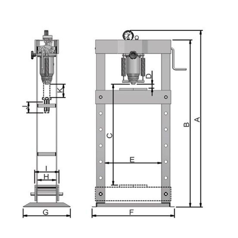Prensa Hidráulica Manual 30 Ton P30000 Bovenau