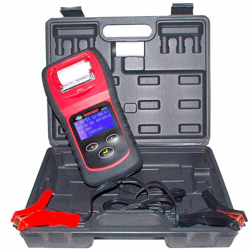 Teste De Bateria Automotivo Digital Com Impressora DM-670 DMFERRAMENTAS