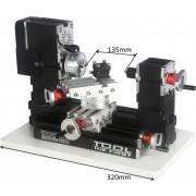 Mini Torno de Metal com Mesa Giratória - The First Tool - 60W, 12000rpm Motor Big Power - TZ20002MR - Montado