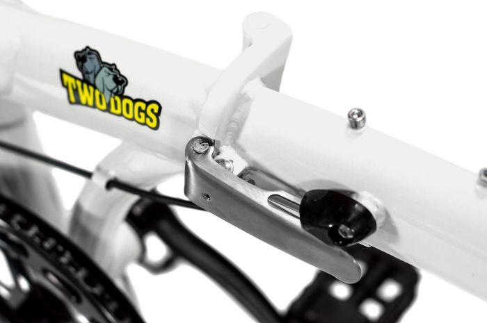 Pliage Plus Bicicleta Dobrável Two Dogs - Branca