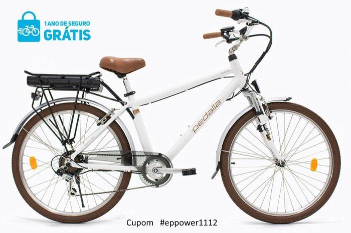 """Bicicleta Elétrica Pedalla GIOIA , ARO 26, QUADRO 16""""/17"""" ALUMÍNIO, MOTOR 250W E BATERIA DE LÍTIO 36V X 6AH - Cupom #EPPOWER1112"""