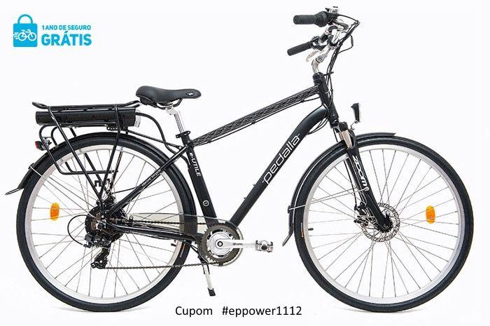 """Bicicleta Elétrica Pedalla E-UTILE , ARO 700C, QUADRO 18"""" DE ALUMINIO, MOTOR 350W E BATERIA DE LÍTIO 36V X 11,60 AH - Cupom #EPPOWER1112"""