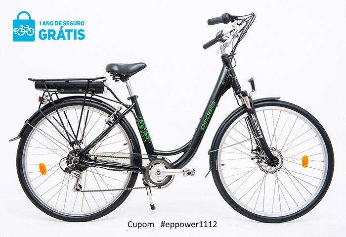 """Bicicleta Elétrica Pedalla RODDA , ARO 700C, QUADRO 18"""" DE ALUMINIO, MOTOR 250W E BATERIA DE LÍTIO 36V X 9,00 AH - Cupom #EPPOWER1112"""