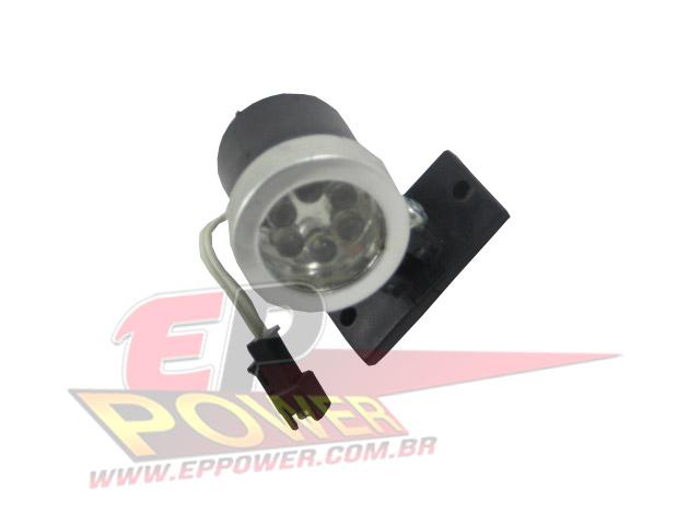 Farol Dianteiro com 6 leds branco - Skate Eletrico 800W - 1300W EPPOWER