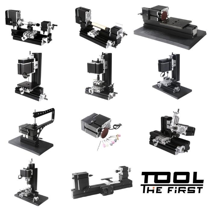 Mini Torno Metal Multifunção 10 em 1 - The First Tool - 60W, 12000rpm Motor Big Power - TZ10000MG