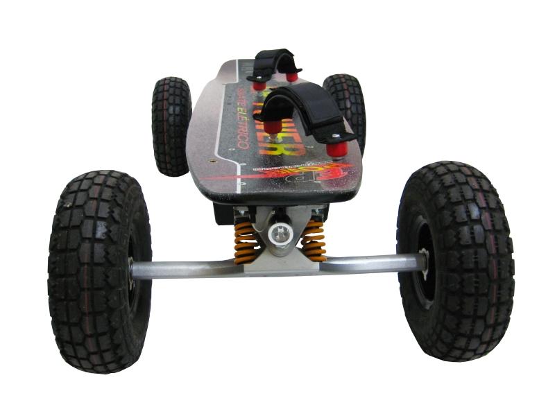 Skate Elétrico Off Road 1300w Motor Brushless  - EPPOWER c/ Farol, Lanterna, Controle Digital, 14ah, Função Ré