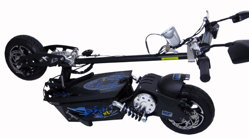 SXT Scooter Patinete Elétrico 1000w 48V Preto - EPPOWER C/ Retrovisor, Velocimetro, Farol e Buzina