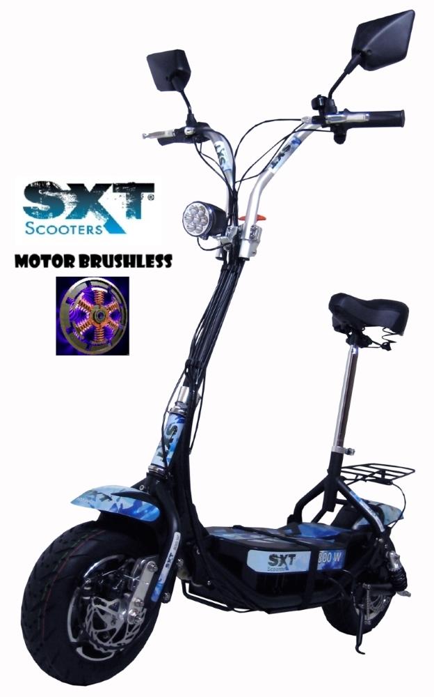SXT Scooter Patinete Elétrico ES08 Motor Brushless 800W 36V