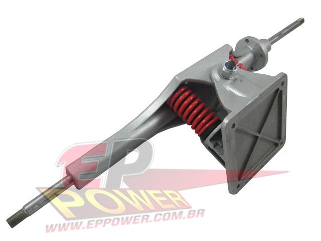 Truck Traseiro Completo mola vermelha - Skate Eletrico 800W EPPOWER