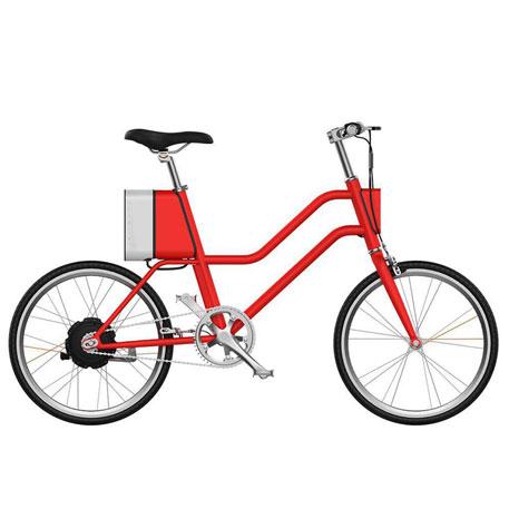 Bicicleta Elétrica YUNBIKE UMA C1 Feminino - Vermelho