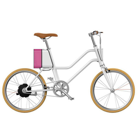 Bicicleta Elétrica YUNBIKE UMA C1 Feminino - Branco