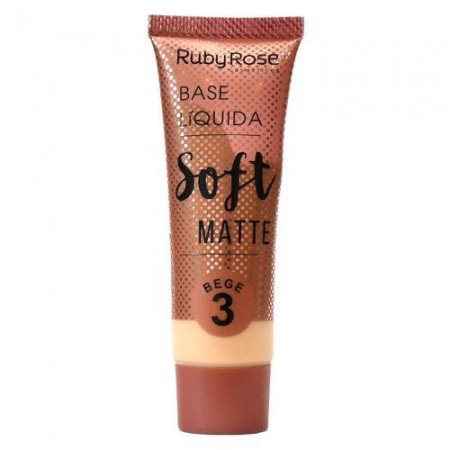 Base Líquida Ruby Rose Soft Matte Cor Bege 03 - 29ml Hb-8050