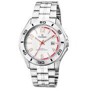 Relógio Champion Masculino Prata Fundo Branco Ca30212m