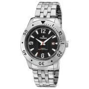 Relógio Champion Masculino Prata Fundo Preto Ca30169t