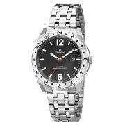 Relógio Champion Masculino Prata Fundo Preto Ca30196t