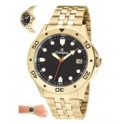 Relógio Champion Masculino Prata Fundo Preto CA31453U
