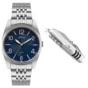 Relógio Condor Masculino Co2035kyd/k3a Prata Fundo Azul e Canivete