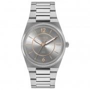 Relógio Euro Feminino Eu2035yrb/3c Prateado Fundo Cinza e Detalhes Gold Rosê