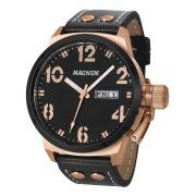 Relógio Magnum Casual Ma32783p Masculino Bronze Rosê com Fundo Preto