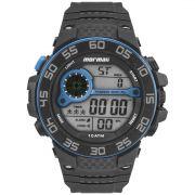 Relógio Mormaii Mo9451/8a Masculino Esportivo Digital Preto com Azul