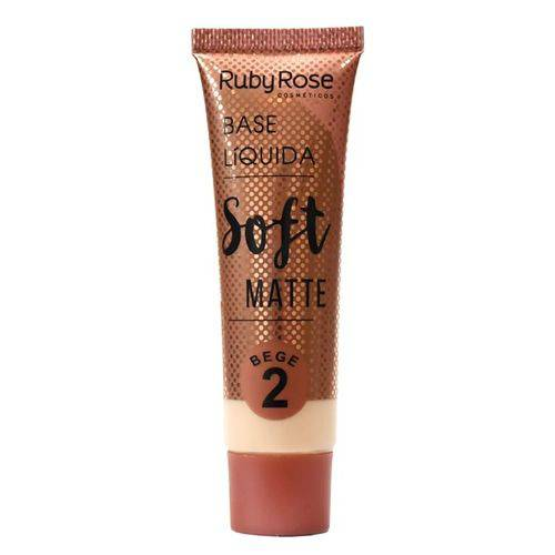 Base Líquida Ruby Rose Soft Matte Cor Bege 02 - 29ml Hb-8050