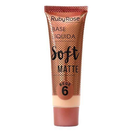 Base Líquida Ruby Rose Soft Matte Cor Bege 06 - 29ml Hb-8050
