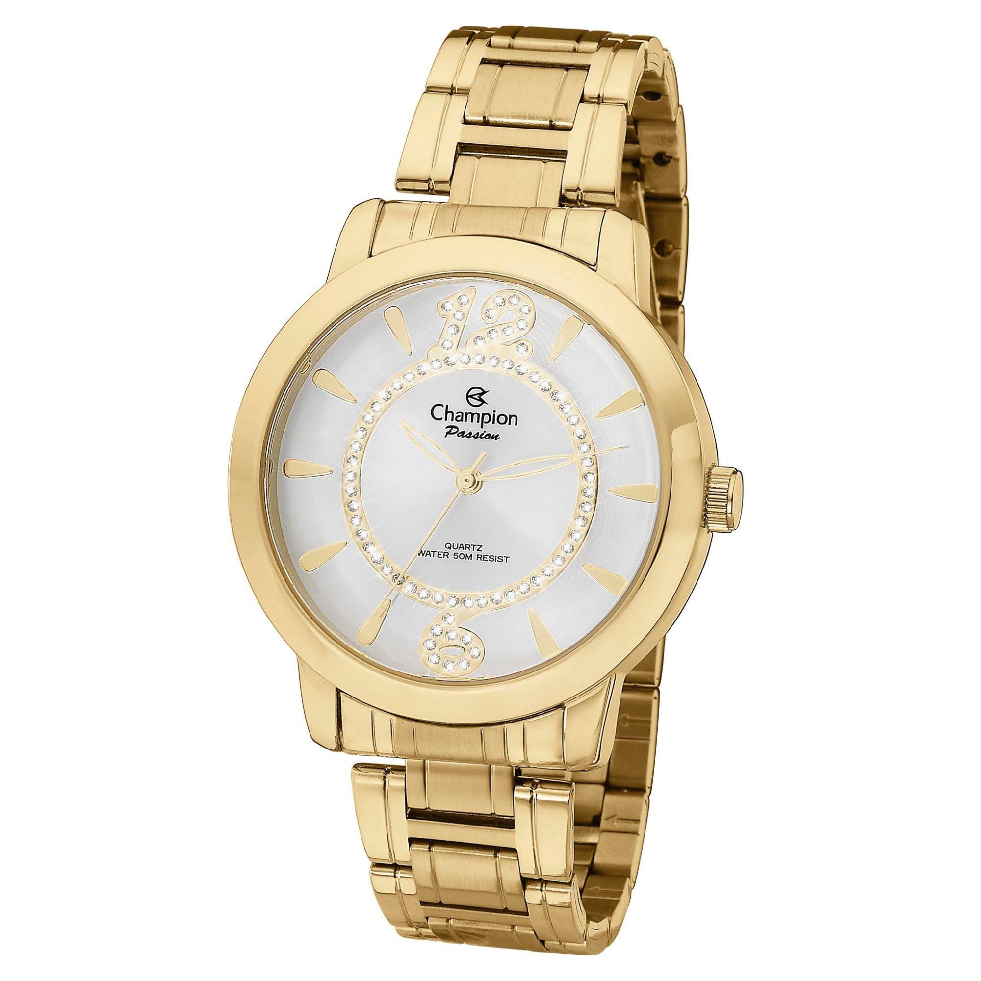 Relógio Feminino Champion Passion Ch24259h Dourado