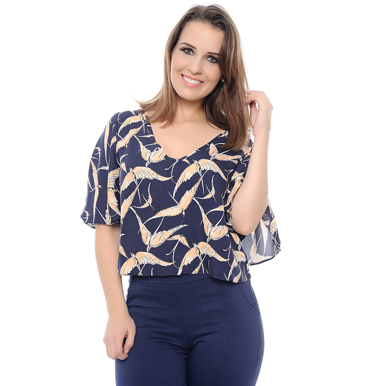 CROPPED TOP PÁSSAROS
