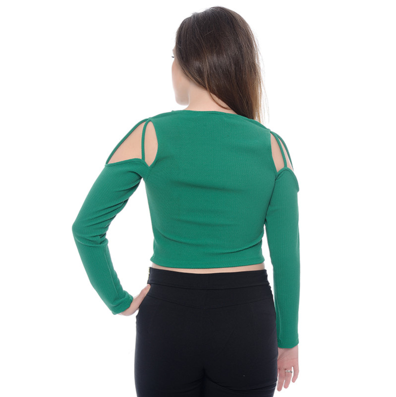 TOP CROPPED CIGANINHA VERDE
