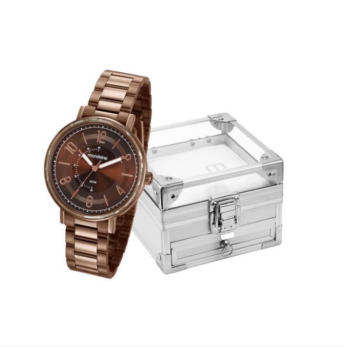 Kit Relógio Mondaine Feminino Com Porta Jóias 53677lpmvme2k2