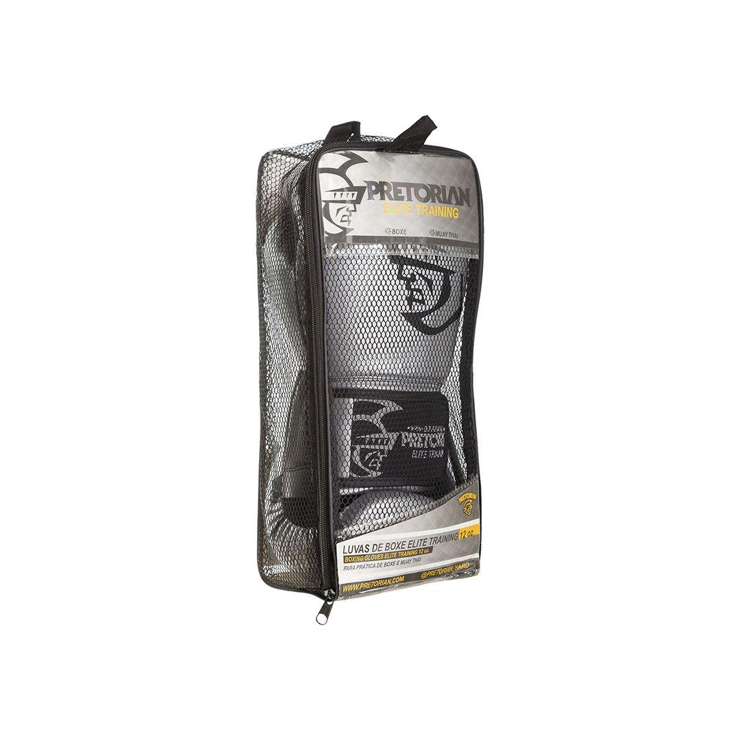 Luva Muay Thai Boxe Elite - Pretorian [prata] 12oz