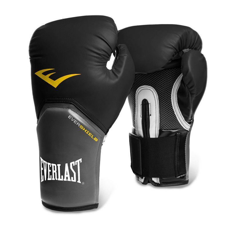 Luva Muay Thai Boxe Pro Style Elite - Everlast Preta 12oz