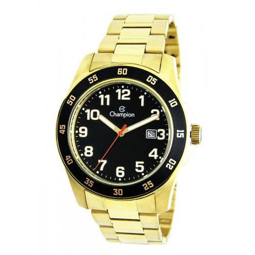 Relógio Champion CA31293U Masculino Dourado com Fundo Preto