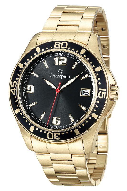 Relógio Champion Masculino Dourado Preto Original CA31248U